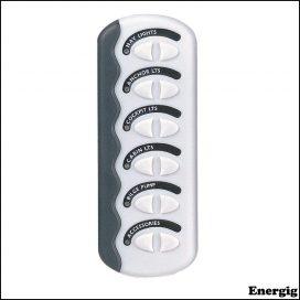 BEP Contour Generation II Spray proof Switch Panel 6W No Fuse MC10