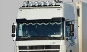 Trucks With solar and Wind turbines
