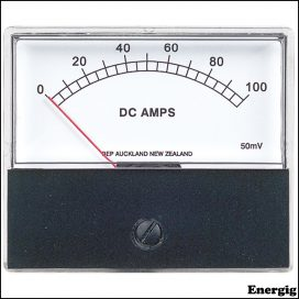 BEP DC Analog Ammeter with a 0-100A Range