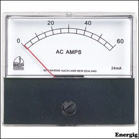 BEP AC Analog Ammeter with a 0-60A Range