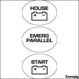 BEP Emergency Parallel Battery Switch Label Set
