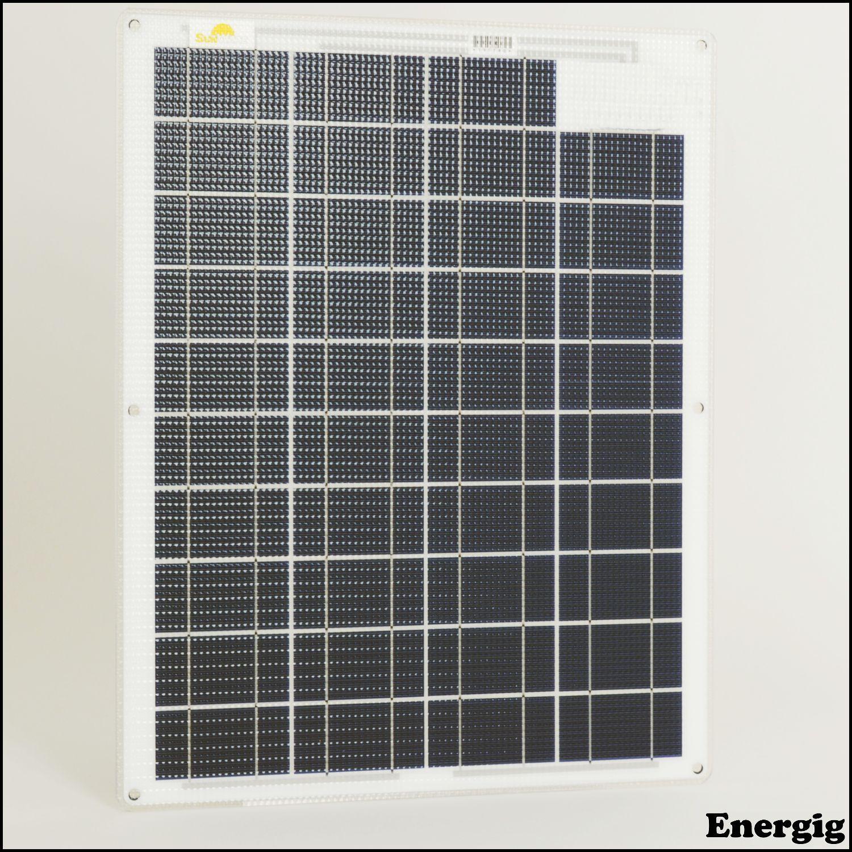 40 Series Semi Flexible Flexible Solar Panels Sunware