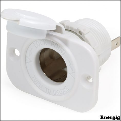 Blue Sea Systems 12VDC Dash Socket White